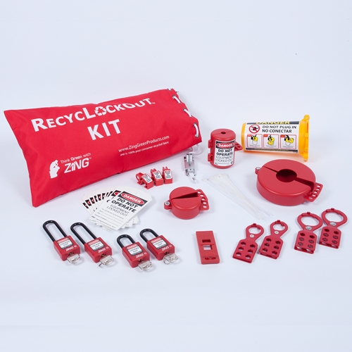 ZING RecycLockout Lockout Bag Kit, 35 Components
