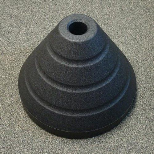"ZING Sign Base w/Round 2-3/8"" Post Hole, Black Rubber"