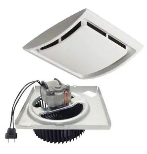 QuicKit™ 60 cfm Exhaust Fan Kit in White for 670, 671, 688 and 689 Fans QuicKit™, 60, cfm, Exhaust, Fan, Kit, in White