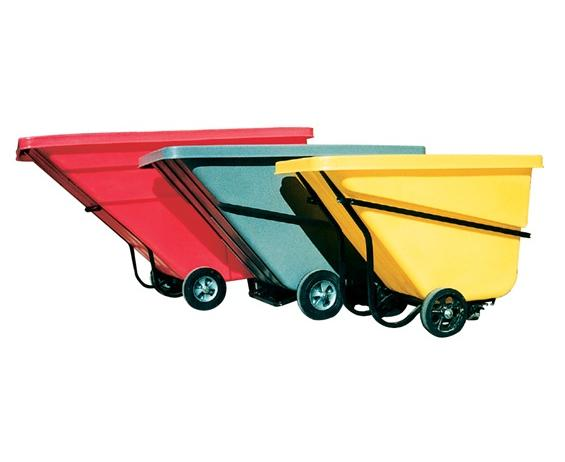 TILT TRUCKS- Yellow, 1 Cap. Cu. Yard, 66.5 x 31 x 42""