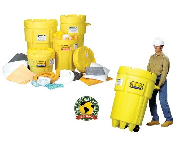 ENPAC SALVAGE DRUM SPILL KITS- 65 gal. Spill Kit/Oil Only, Absorbs up to 41 gals.