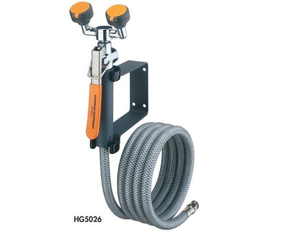 EYEWASH/DRENCH HOSE UNITS- Dual Head Eye Wash-Drench Hose - Deck Mounted