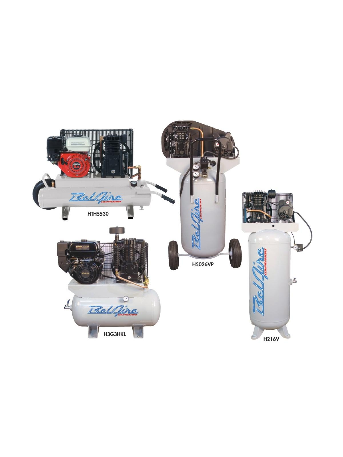 BELAIRE AIR COMPRESSORS- Two Stage Electric, 5 H.P., 18.5 CFM @ 100 PSI