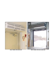 "BERNER AIR CURTAINS- Low Profile - 120/1 Voltage, 3 x 8 Max Door Size, 36.01 x 8.68 x 8.5"" Unit Size WxDxH"