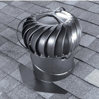 TOBS0G00 Airhawk 12 In. Aluminum Externally Braced Wind Turbine Attic Vent TOBS0G00, Airhawk 12 In. Aluminum Externally Braced Wind Turbine Attic Vent