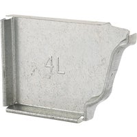OG4ECLHG NorWesco Galvanized End Cap OG4ECLHG, Galvanized Left End Cap