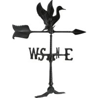 WV3-A-71SR-BKND Duck Weathervane duck vane weather weathervane