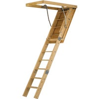 AG89 Louisville Ladder Spacemaker Wood Attic Stairs attic stairs