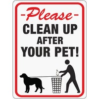 20617 Hy-Ko Please Clean Up After Your Pet Sign 20617, Hy-Ko High Visibility Plastic Sign