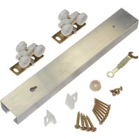 100601DR Johnson Hardware Pocket Door Hardware Set With Track 100601DR, Pocket Door Hardware