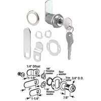 "U 9943 Defender Security Chrome Drawer and Cabinet Lock U 9943, 3/4"" Drawer And Cabinet Lock"