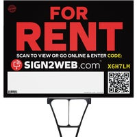E-1824-FR Sign2Web For Rent Sign