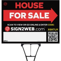 E-1824-DFS Sign2Web House For Sale With Arrow Sign