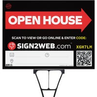 E-1824-OH Sign2Web Open House Sign