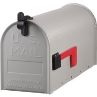 ST100000 Gibraltar Grayson T1 Post Mount Mailbox ST10, Gibraltar Gray Deluxe No. T1 Rural Mailbox