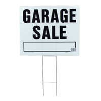 LGS-2 Hy-Ko Garage/Yard Sale Sign LGS-2, Hy-Ko Corrugated Plastic Lawn Sign with Frame