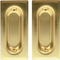 40-3PPK2 Johnson Hardware Rectangular Flush Pocket Door Pull 40-3PPK2, Rectangular Flush Pull