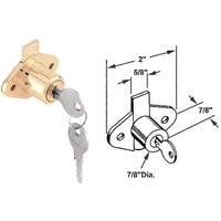 U 9947 Defender Security Brass Drawer and Cabinet Lock U 9947, Drawer And Cabinet Lock