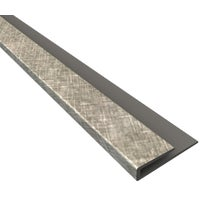 923-21 Fasade J-Edge Backsplash Trim 923-21, Backsplash Edge J Trim Cross Hatch Silver
