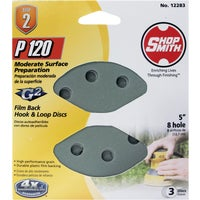 12283 Shop Smith 5 In. Hook & Loop Vented Sanding Disc shop smith