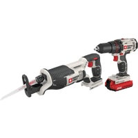 PCCK603L2 Porter Cable 20V Max Li-Ion Drill & Reciprocating Saw Cordless Tool Combo Kit cable porter