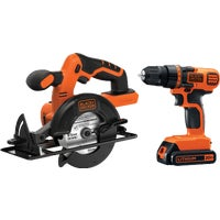 BD2KITCDDCS Black & Decker 20V MAX Li-Ion Circular Saw & Drill Cordless Tool Combo Kit Black & Decker 20V MAX Lithium-Ion Circular Saw and Drill Cordless Tool Combo Kit