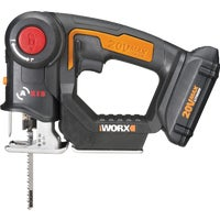 WX550L WORX 20V Axis Lithium-Ion Cordless Jigsaw/Reciprocating Saw Kit