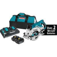 XSR01PT Makita 18V LXT X2 Lithium-Ion Brushless Cordless Circular Saw Kit, Rear Handle
