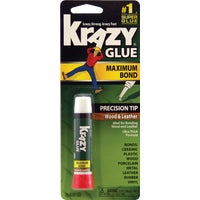 KG82148R Krazy Glue Maximum Bond Wood Leather Super Glue glue super