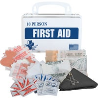 K610-027 Certified Safety 10-Person First Aid Kit certified safety