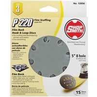 12056 Shop Smith 5 In. Hook & Loop Vented Sanding Disc shop smith