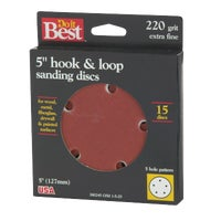 380245 Do it Best 5 In. 5-Hole Hook & Loop Vented Sanding Disc 380245, Do it Best 5 In. 5-Hole Hook & Loop Vented Sanding Disc