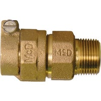 74753-22 A A Y McDonald Brass MIPT Polyethylene Pipe Connector 74753-22, 74753-22 Polyethylene Pipe Connector