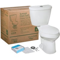 43840017 Mansfield Summit SmartHeight Dual Flush Toilet Kit 43840017, Summit White Dual Flush Toilet Kit