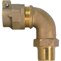 74779M-22 A A Y McDonald MIP Polyethylene Pipe Connector Brass Elbow 74779M-22, 74779M-22 Polyethylene Tubing Connector Elbow