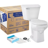 117CTK Mansfield Pro-Fit 4 SmartHeight 1.6 GPF Complete Toilet fit mansfield pro