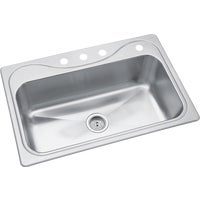 45987-4NA Sterling Southhaven Stainless Steel Single Bowl Sink 9 In. Deep Sterling Southhaven Stainless Steel Single Bowl Sink 9 In. Deep