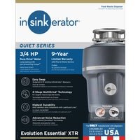 78239A Insinkerator 3/4 HP Essential Garbage Disposer Insinkerator 3/4 HP Essential Garbage Disposer