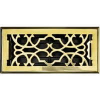 ASFRSBV410 Accord Victorian Solid Brass Floor Register floor register