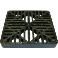 980 NDS 9 In. Black Square Grate grate square
