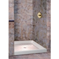 3636M Mustee Durabase Shower Floor & Base 3636M, Mustee Durabase 36 In. W x 36 In. D White Fiberglass Shower Floor & Base, Center Drain