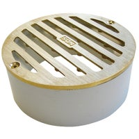 910B NDS 4 In. Round Satin Brass Grate NDS 4 In. Round Satin Brass Grate