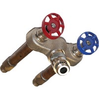 496-10LF Arrowhead Brass 1/2 In. SWT X 1/2 In. MIP Hot & Cold Anti-Siphon Frost Free Wall Hydrant arrowhead brass hydrant wall