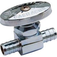 23063LF SharkBite Multi-Turn Straight PEX Stop Valve 23063LF, SharkBite 1/2 In. x 1/2 In. Multi-Turn Chrome Stop Straight Valve