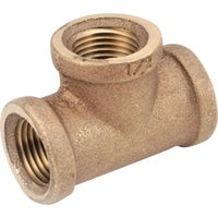 738101-08 Anderson Metals Red Brass Threaded Tee brass tee