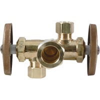 CR1900DVX R BrassCraft Dual Outlet Shut-Off Valve CR1900DVX R, BrassCraft Dual Outlet Shut-Off Valve
