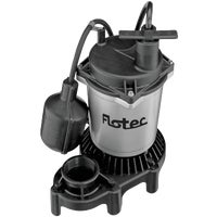 FPZS50T Flotec 1/2 HP Submersible Sump Pump w/Teathered Switch