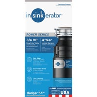 B5XP Insinkerator 3/4 HP Garbage Disposer disposer garbage