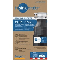 B1 Insinkerator 1/3 HP Badger 1 Garbage Disposer disposer garbage