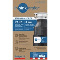 B5 Insinkerator 1/2 HP Badger 5 Garbage Disposer disposer garbage